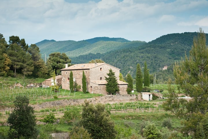 Bodega Colltor, masia rural e ideal