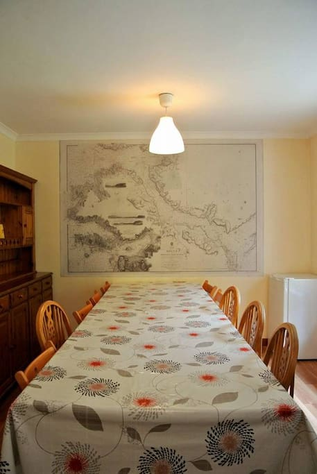 Large table in kitchen