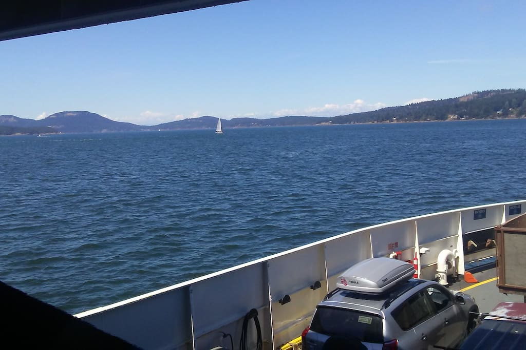 Just a short Ferry ride. Or fly in by Float Plane and we will pick you up.
