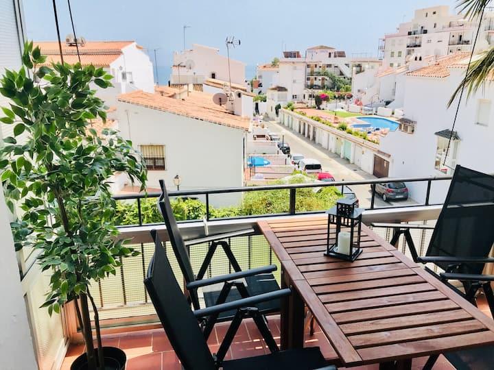Apartment - Nerja- Parador-Pool- Terrace -Sea view