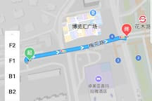 距离新博览260m,不足5分钟路程。260m far from exhibition center,less than 5mins walk.