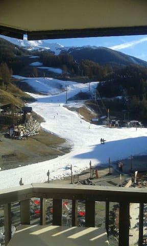 Les Orres 1650 studio skis aux pieds 4-6 couchages - Les Orres - Lägenhet