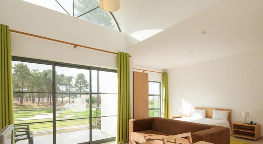 Open space and balcony to the golf