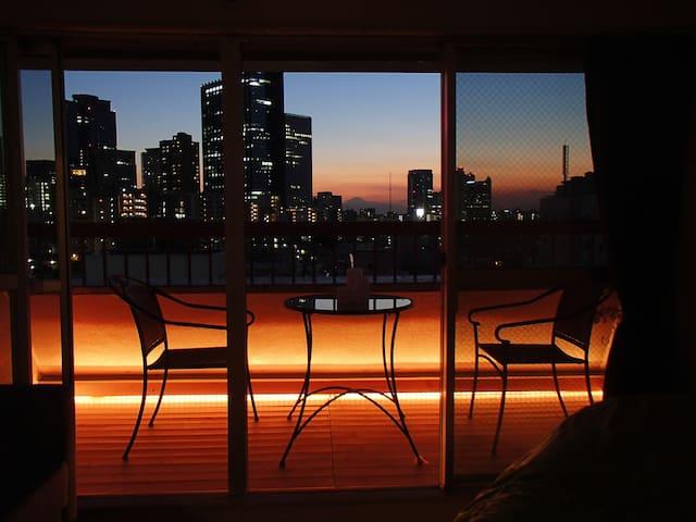 Shinjyuku 10min Mt.Fuji view 2rooms - Shinjuku-ku - Apartament