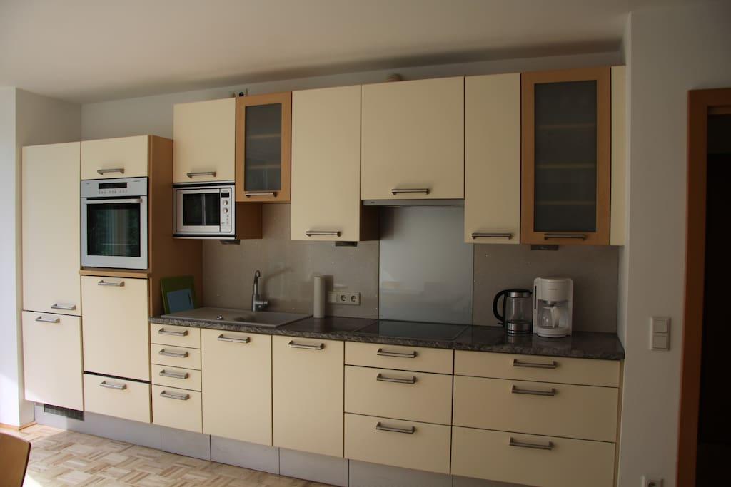 Unsere küche ist bestens ausgestattet.