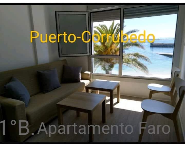 Faro-Ap.grande-1ºB en el Puerto Corrubedo-1ª línea