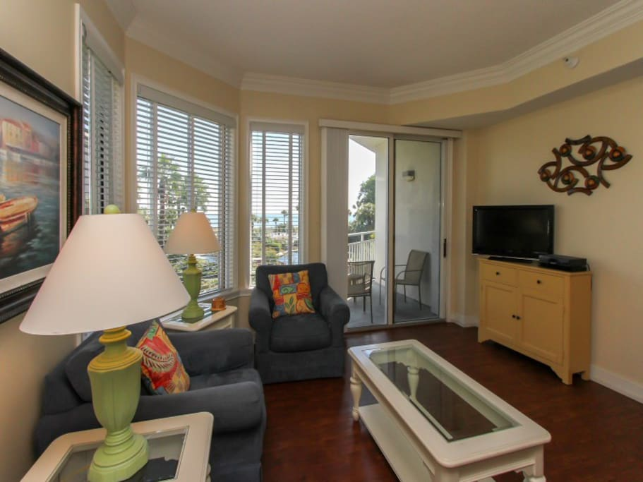 Living Room with Ocean Views at 1204 Sea Crest