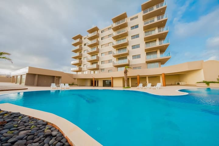 Beautiful 1 bedroom Apartment - Ocean view - Mindelo - Serviced apartment