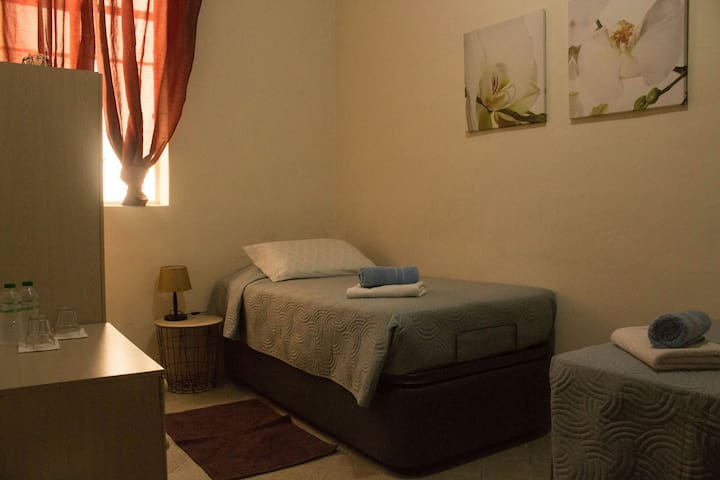 Twin Room in Spacious Apartment in Valletta Centre