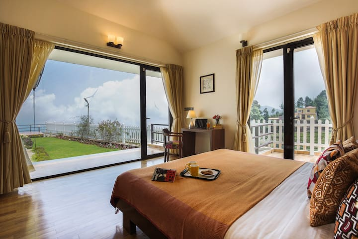 Master bedroom with a view and private sit out