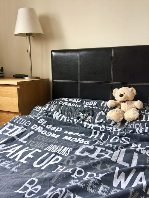 Double bed in lovely bedroom
