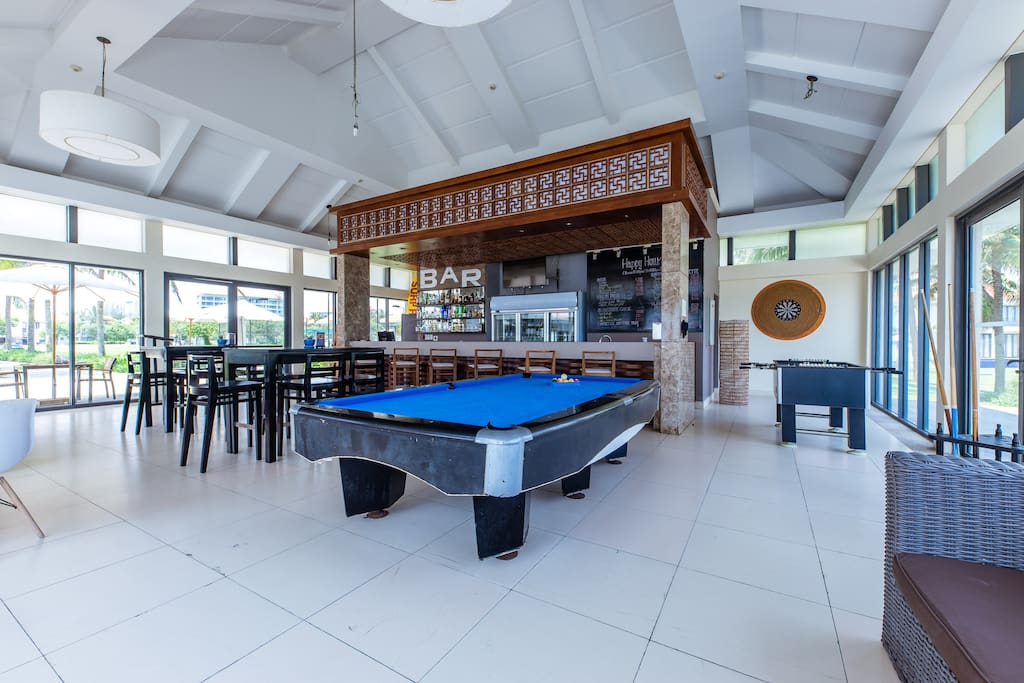 Bar and games at Ocean Villas resort