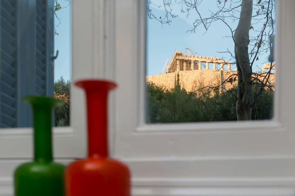 View of Acropolis from the living room