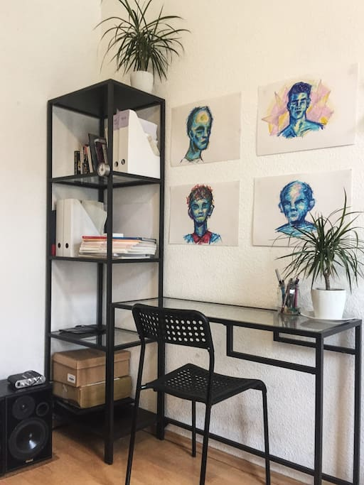Desk and Shelf