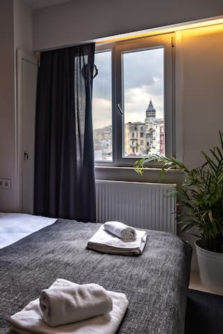 Comfy and Luxury Room With Galata Tower View