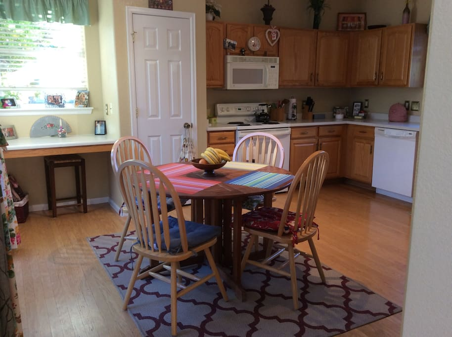 Kitchen with breakfast table
