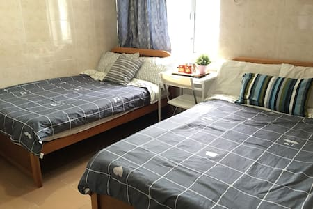 2 DOUBLE BEDS FOR 4PX,Mongkok - Apartment