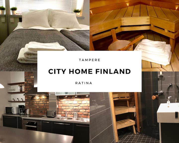 City Home Finland Ratina | 52m2 | Private Sauna