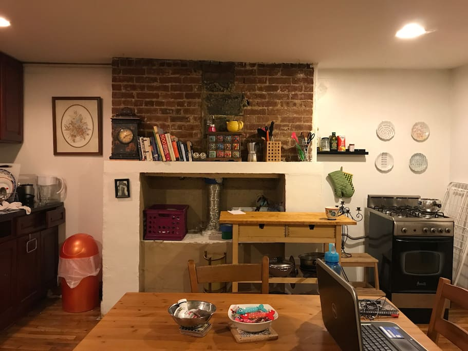kitchen cum dining area