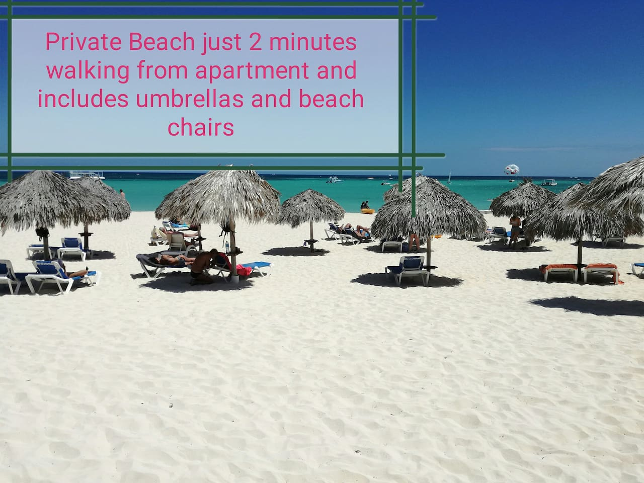 Amazing private beach includes umbrelas and beach chairs (just 2 minutes walking distance from the apartment