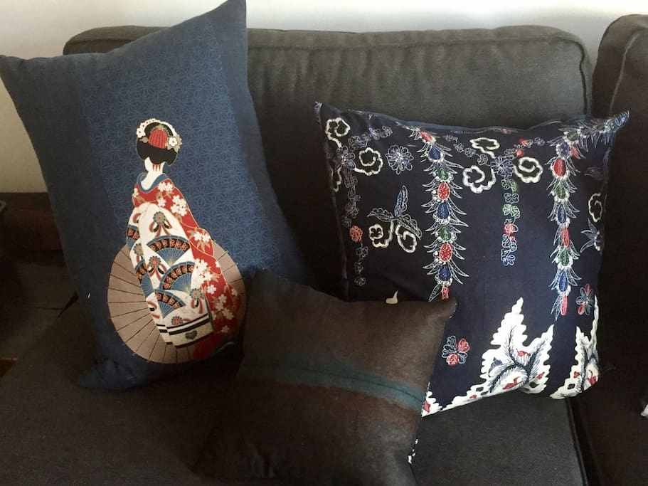 Locally crafted linen cushions