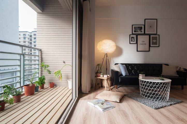 Bearwohouse-cozy flat near Tunghai Uni.,w/parking