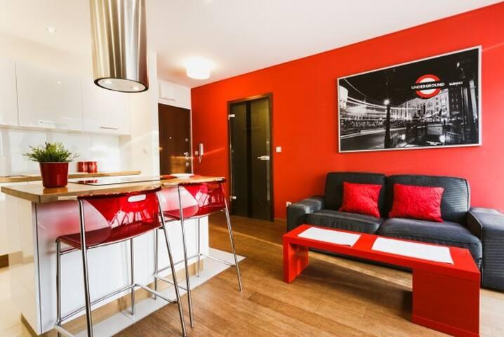 Amazing comfort suit flat in a fantastic location. - Cracovia - Apartamento