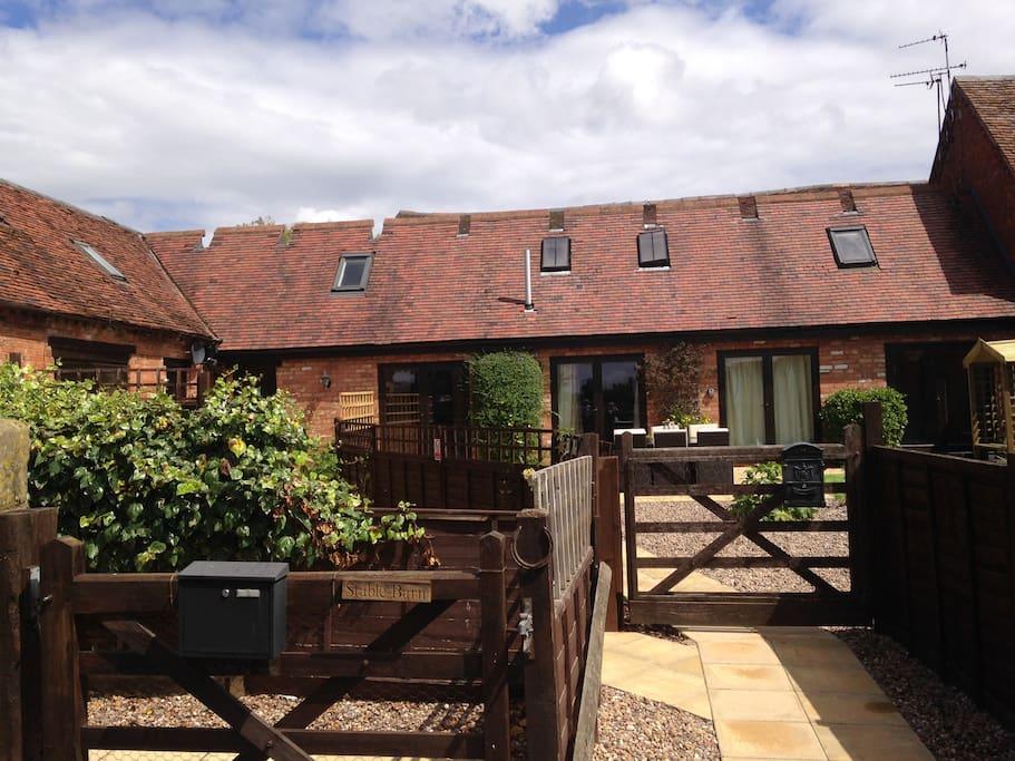 The Barns courtyard