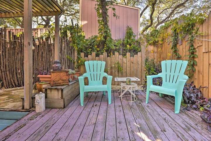 Open a bottle of wine & spend a relaxing evening on the back patio.