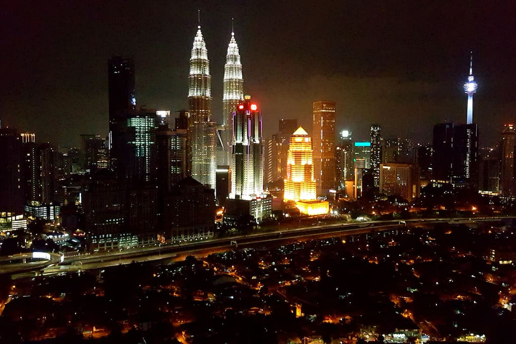Amazing Night view of KL skyline from Private Balcony