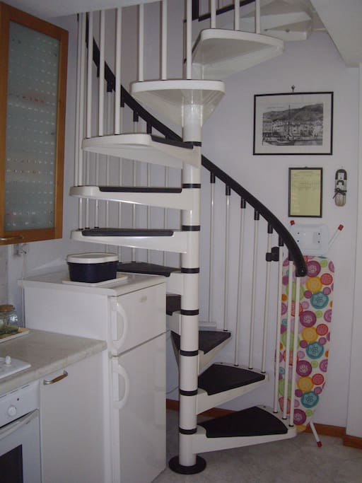 Stairways to sleeping room