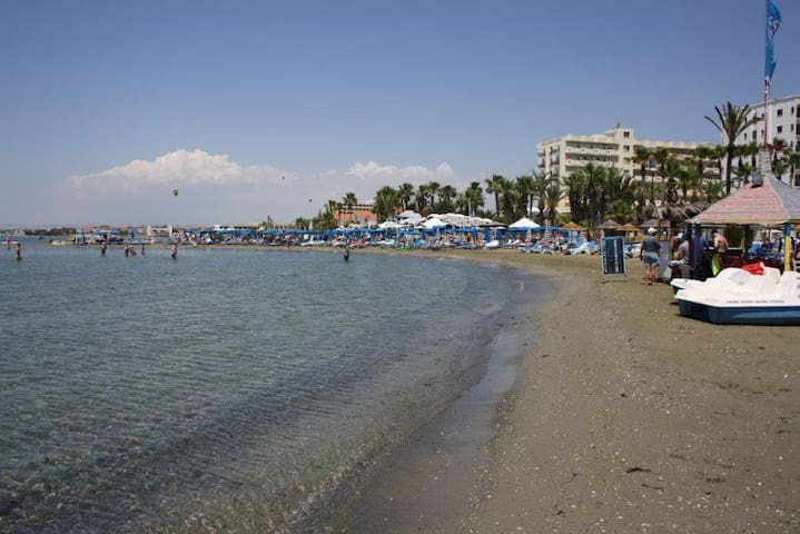 Hotel's beach, open to the public.