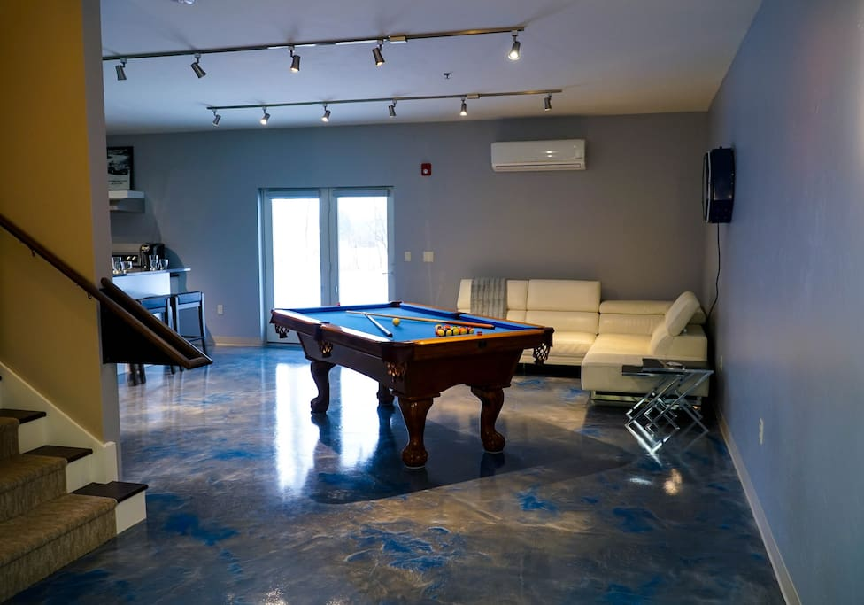 Welcome to the Luxury Lounge Area.  Offering one of a kind Heated Liquid Luxury Flooring.