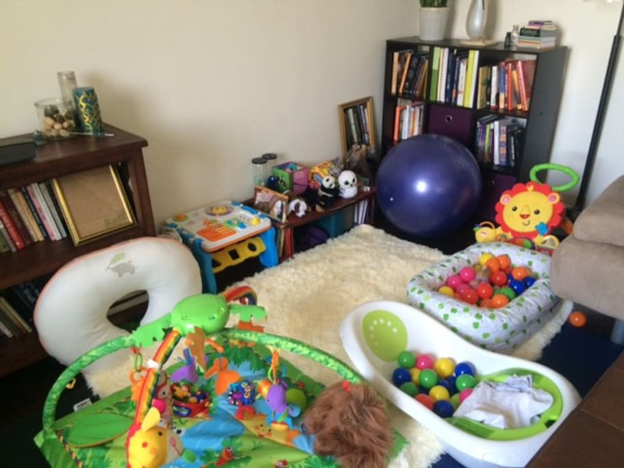 Play area in living room for small kids.