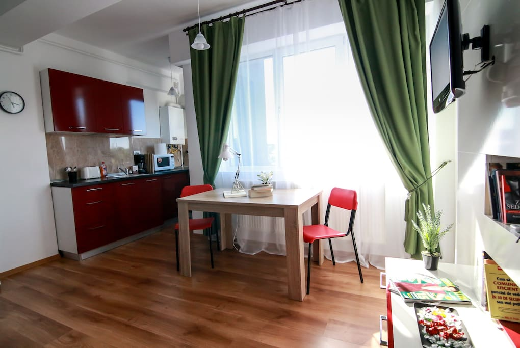 Isabela: ''The apartament was perfect. Very clean, cosy, and we had everything we needed, just perfect for our short trip in Iasi!...''  July 2018