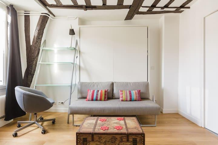 Typical Parisian Studio - Le Marais - Paris-4E-Arrondissement - Byt