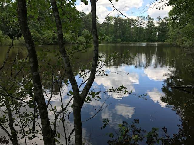 NEW OFF GRID YURT  PRIVATE LAKE FISHING KAYAK