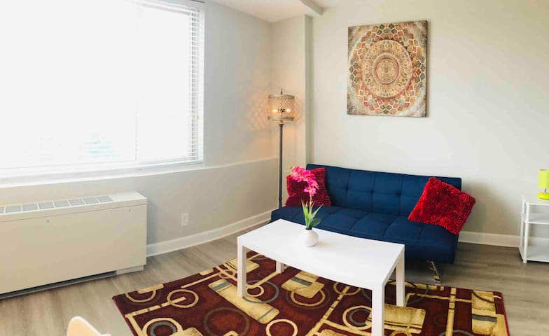 Private 1bed/1bath, gym, pool, mins to DC & shops!