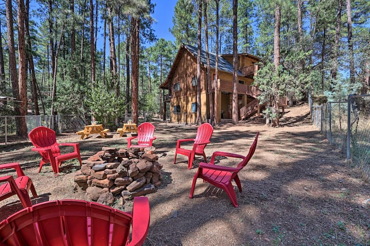 NEW! Dog-Friendly Strawberry Cabin: Hike & Relax!