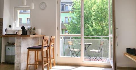 gemütliches & ruhiges 1-Zi App. Hinterhaus+Balkon