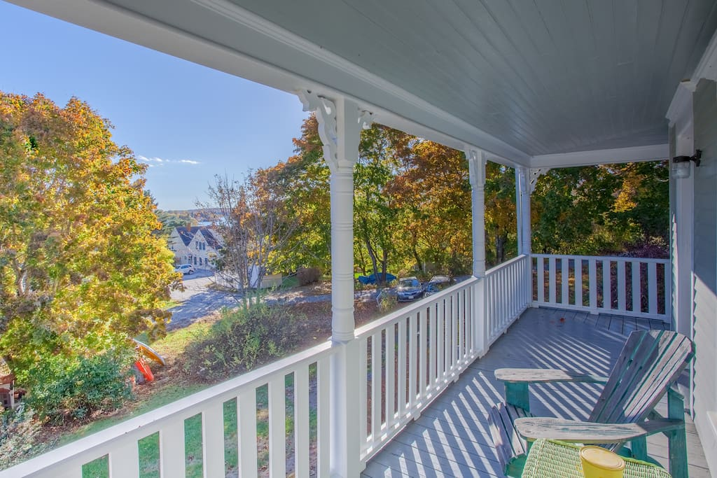 Relax and unwind on the wraparound porch—this is vacation!