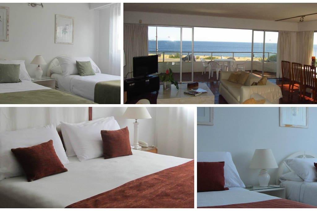 4 dormitorios, 6 camas. Con 170 m2 ¡nadie duerme en el sillón! 4 bedrooms, 6 beds. With 170 m2 no one sleeps on the couch!
