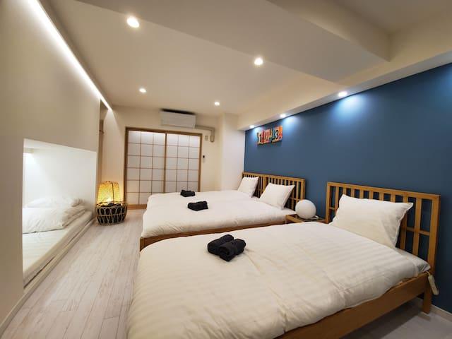 #303★4人房,歌舞伎町新宿中心★觀光和購物的地點★免費的携帯WiFi