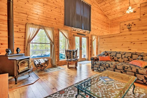 Lakefront Cabin w/ Private Deck, Dock & Fire Pit!