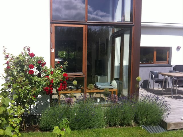 Modern Terrace House with a garden in Roskilde