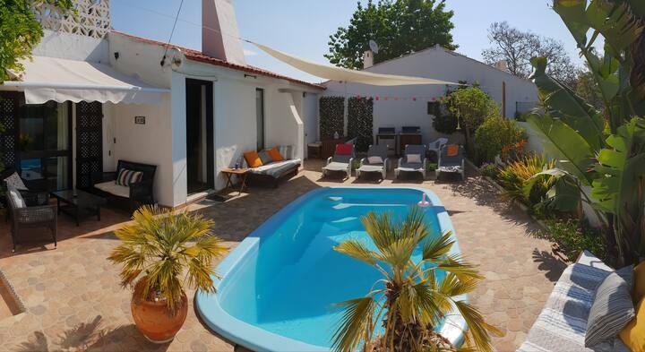 VILLA OURABEACH private pool, 7 people, Wi-Fi, BBQ
