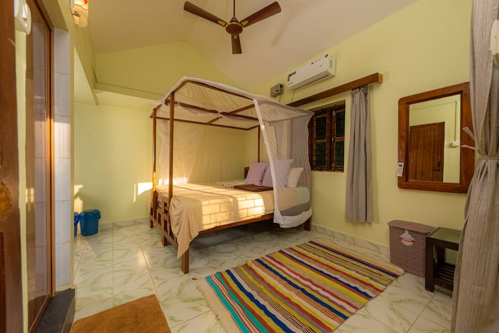 2 STANDARD FIRST FLOOR ROOM WITH AC @ AGONDA BEACH