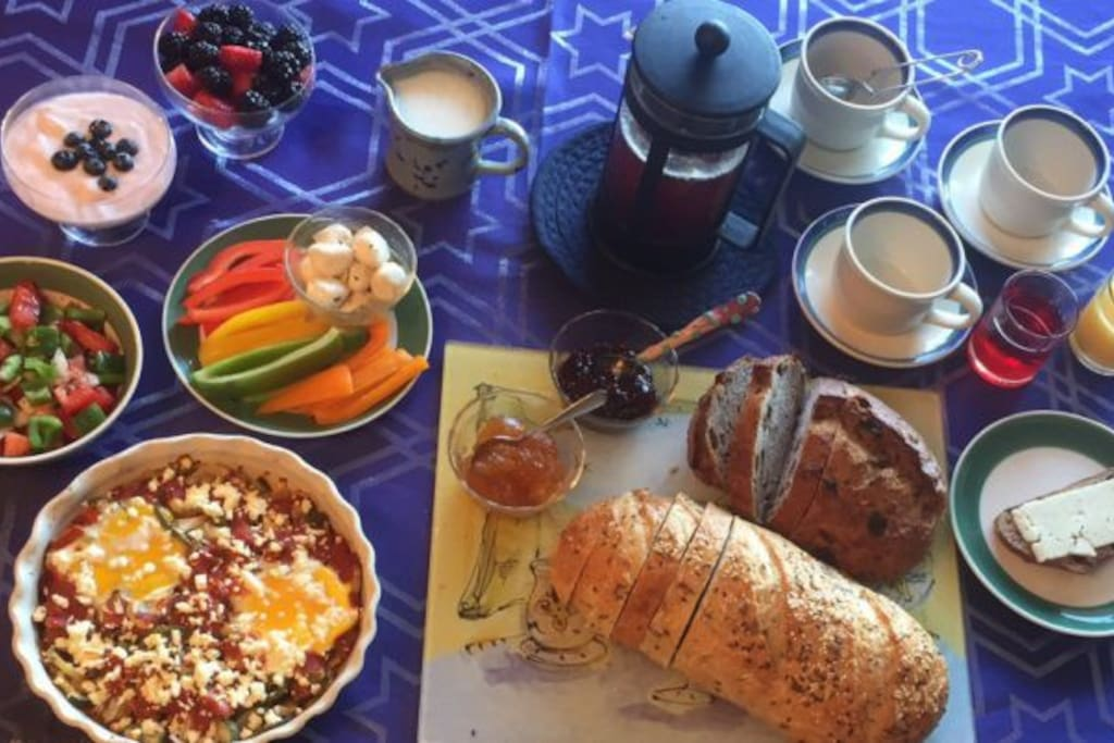 Full Breakfast Buffet. Healthy to Decadent. Gluten-free & allergy-safe selections available.