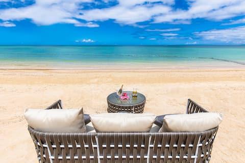 ビーチ目の前!★Private beach villa★BBQ &Pet OK!