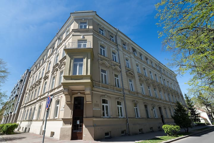 Single room with park view in the heart of Vilnius
